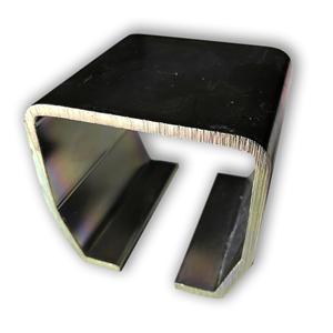 Laufschiene NIKO Typ 26.001 75x80x4,5,Torlaufschiene Stahl verzinkt, Top Clean,Zuschnitt von 2000mm bis 6000mm möglich