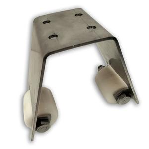 Einlaufgabel NIKO Typ 095,für Tore bis 300kg/70mm Rahmenstärke,Obere Einlaufführung mit KS Rollen
