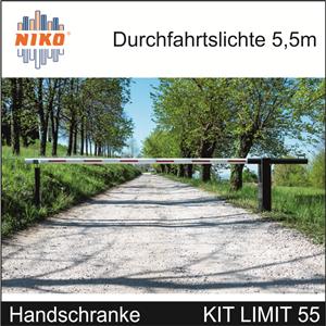 Handschrankenset NIKO für Sperrbreite bis 4,5m.