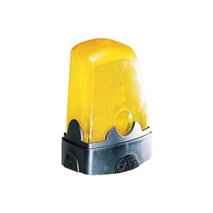 LED Blinkleuchte CAME,gelbes Glas, mit Antennensockel,Ausführung 230V