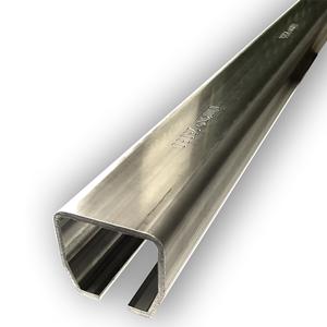 Laufschiene NIKO Typ 25.050 60x65x3,6 A2,Torlaufschiene Edelstahl A2 / AISI 304,Lagerlänge 6m