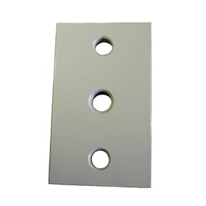 Mauermontageplatte NIKO ALU small,RAL7016 beschichtet 60x100mm,,für Torband CA100