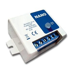 Universalempfänger 433Mhz Rollingcode,Einkanalempfänger 12-24V AC/DC, IP20, ,15 Nutzer programmierbar
