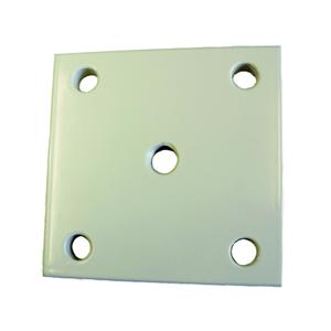Mauermontageplatte NIKO ALU medium,Oberfläche natur, 100x100mm,,für Torband CA100.