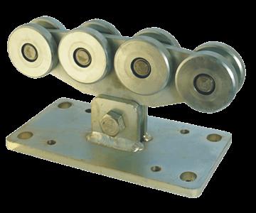 Rollapparat NIKO Typ 27.X002,für Schiebetore bis 900kg Flügelgewicht,Durchfahrtslichte bis 9000mm,