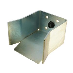 Torfangstück NIKO Typ 081,für Laufschiene Serie 25.000,untere Einlaufgabel mit Gummipuffer