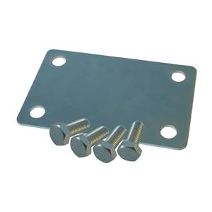 Grundplatte NIKO Typ 093,für Rollapparat 25.X012/25.X002,Stahlplatte mit 4 Stellschrauben