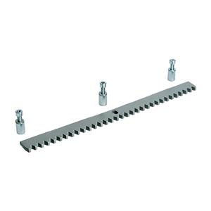 Zahnstange Stahl verzinkt Modul 4,inkl. 3 Distanzstücke mit Schrauben M8,und Langlochung verstellbar.